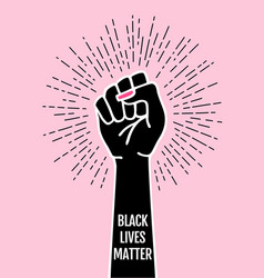 Black lives matter fist female hand protest vector