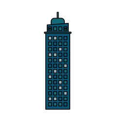 Building architecture modern skyscraper vector