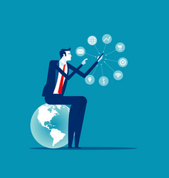 Business manager and technology marketing concept vector