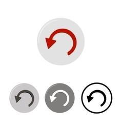 Button Undo icons vector