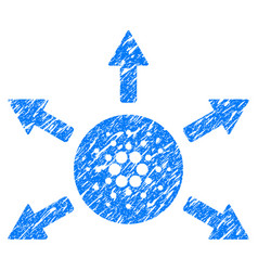 Cardano distribution arrows icon grunge watermark vector