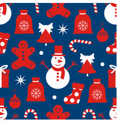 christmas background seamless vector image