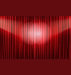 Close view of realistic red curtain vector