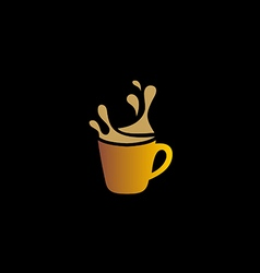 coffee cup drink cafe logo vector image