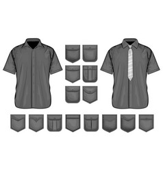 collection of shirt vector image