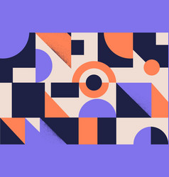 colorful simple geometrical shapes and figures vector image