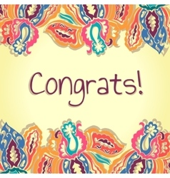 Congrats card Abstract colorful vector image