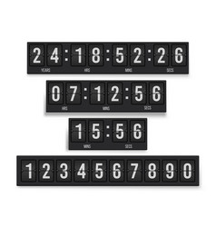 countdown timer set mechanical device vector image
