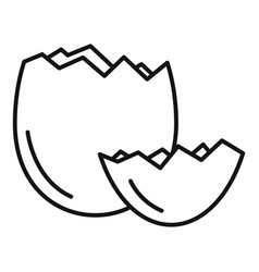 Crack eggshell icon outline style vector