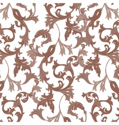 Damask pattern ornament vector image
