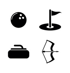 different active sports simple related icons vector image