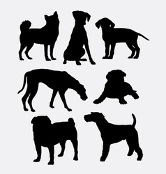 Dog pet animal symbol silhouette vector
