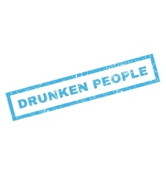 Drunken People Rubber Stamp vector