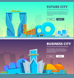 futuristic buildings of vector image