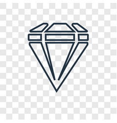 gem concept linear icon isolated on transparent vector image