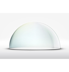 Glass dome on white background vector
