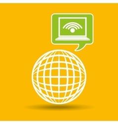Globe development technology laptop wifi vector