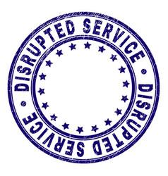 Grunge textured disrupted service round stamp seal vector