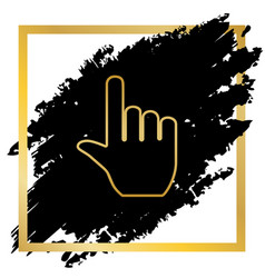 hand sign golden icon at vector image