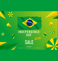 happy independence day sale offer background vector image