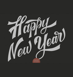 Happy new year text calligraphic lettering vector