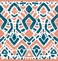 Ikat ornament tribal pattern vector
