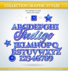 Indigo Graphic Style for Design vector