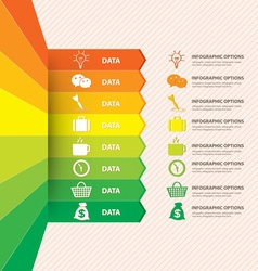 Infographic banner with data vector