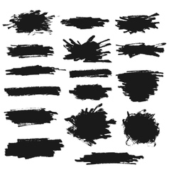Ink paint banners set vector image
