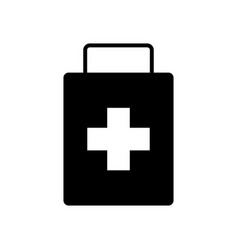 isolated first aid kit icon vector image