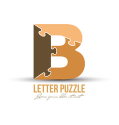Letter b is made up puzzles for logo brand vector