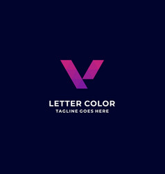 logo aurora gradient colorful vector image