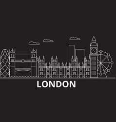 london silhouette skyline great britain - london vector image