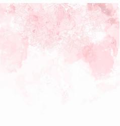 Mandala design on a watercolour texture background vector