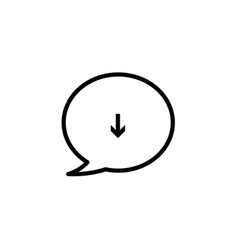 Message bubble download mail icon vector