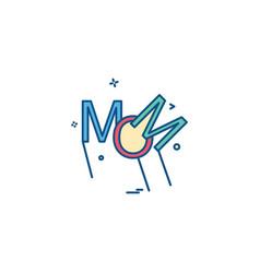 mom icon design vector image
