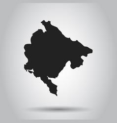 Montenegro map black icon on white background vector