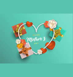 mothers day card decoration for moms holiday vector image