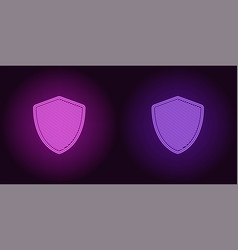 neon icon of purple and violet network shield vector image