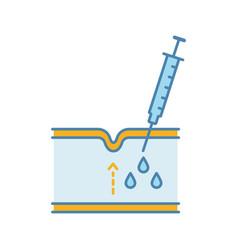 Neurotoxin injection color icon vector