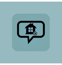 Pale blue remove house message vector