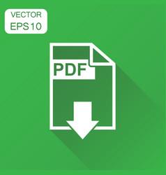 pdf format download icon business concept pdf vector image