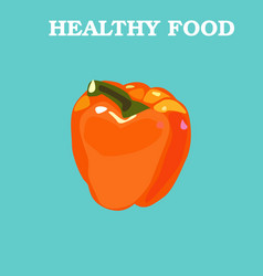 pepper icon flat style vegetarian vector image