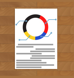 pie chart document vector image