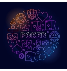 Poker colorful vector