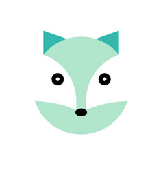 Polar cartoon animal head vector