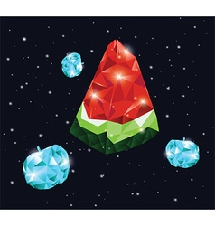 Polygonal watermelon design vector