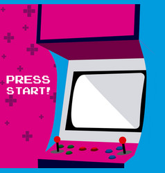 Press start to play arcade vector