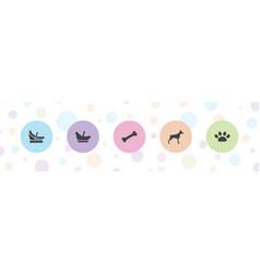Puppy icons vector