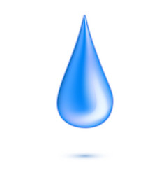 Realistic water drop in motion vector